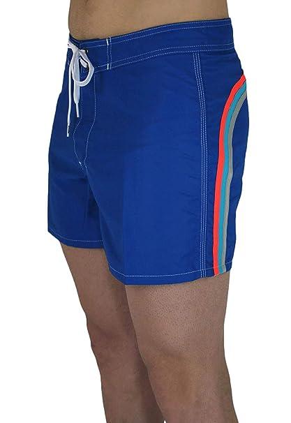 """7b509cf30d06 Sundek Costume Uomo Original BS/RB Low Rise 14"""" Blu Ocean #6 Shorts"""