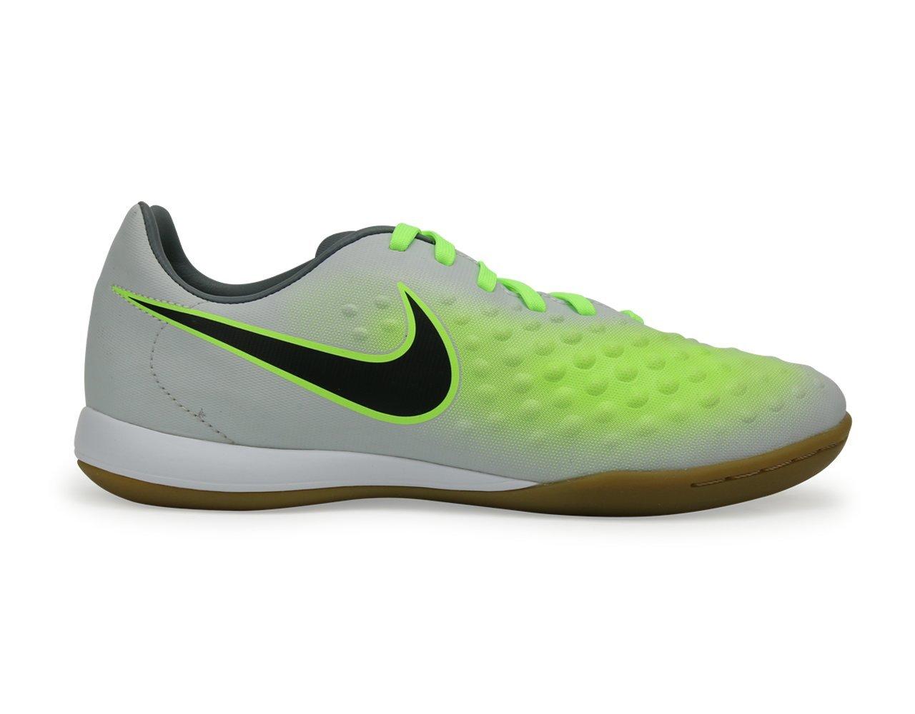 Nike Kids MagistaX Opus Indoor Pure Platinum/Black/Ghost Green Shoes - 11C