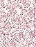 Pink Flowers Bloom 2017-2018 Large Academic Year