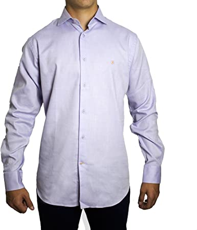 Camisa Tejido Malva TOM - Color : Violeta, Talla Camisas - M ...