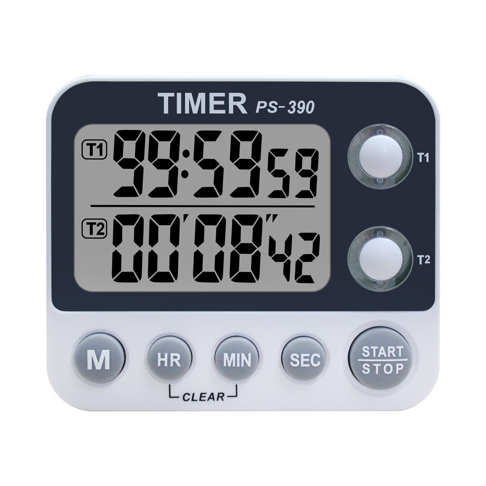 Samshow Digital Dual Kitchen Timer/Clock, Countdown Timer