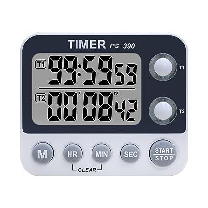 Xrexs - Doppio timer digitale da cucina, volume della sveglia ...