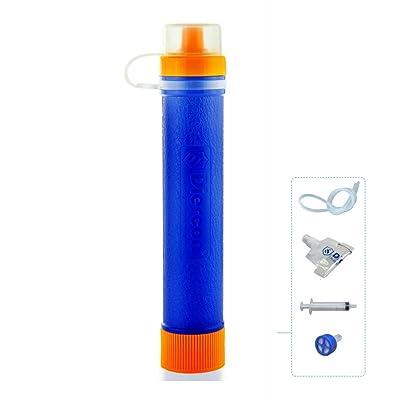 GEERTOP Filtre à Eau/ Filtre Purificateur d'eau/ Camping Système de filtration d'eau Mini Personnel Portable - 1500L (60g) - 0.01 Micron 99.99% Filtration Idéal Pour Camping Randonnée Trekking