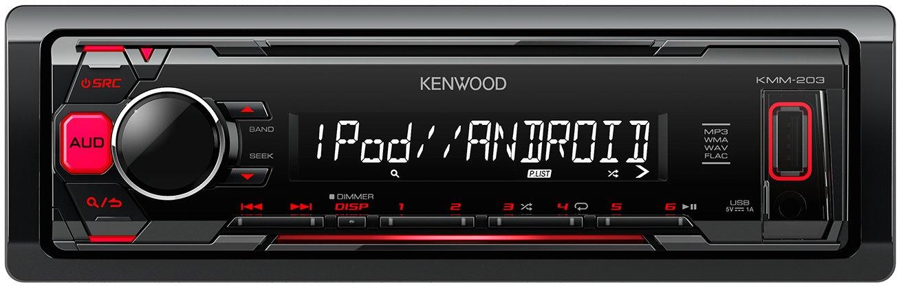 Kenwood kmm-dab403 Autoradio numé rique sans CD, Rouge
