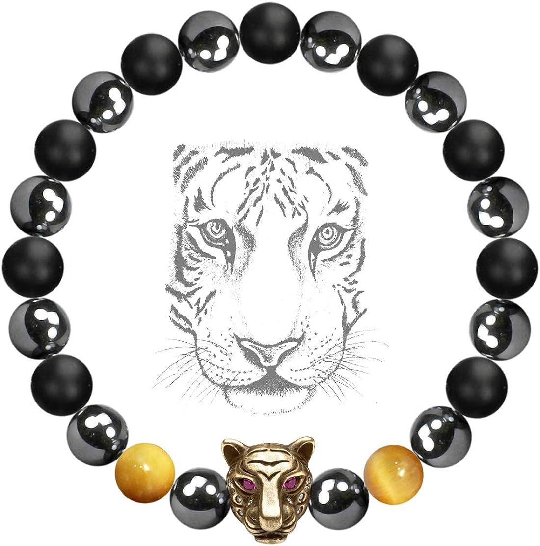 Natural Healing Stone Bracelet-Blue Topaz Bracelet-Meditation Spiritual Protection Balance Calming Grounding Anxiety Relief Bracelet  Gift
