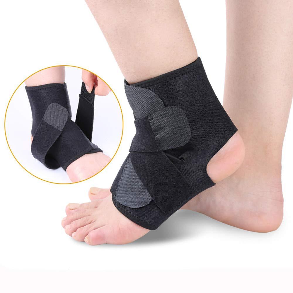 WaiiMak New Black Adjustable Ankle Foot Support Elastic Brace Guard Football Basketball (Black)