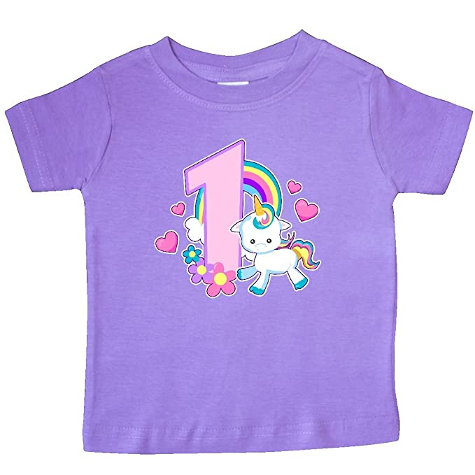 inktastic I Am 3 Years Old with Unicorn and Hearts Toddler T-Shirt