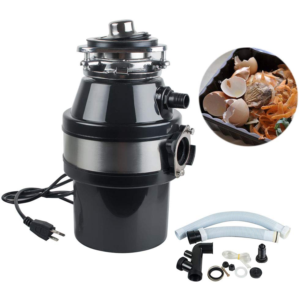 110V Household Food Waste Processor Kitchen Garbage Disposal Crusher…