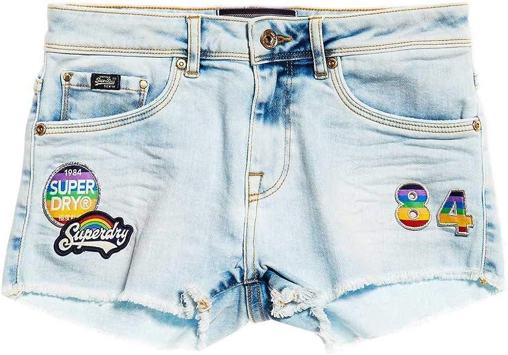 Superdry SHORTS DONNA DENIM HOT short Rainbow Blue