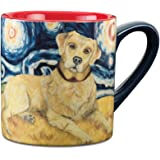 Paw Palettes Yellow Lab Van Growl Ceramic Mug, 16-Ounce