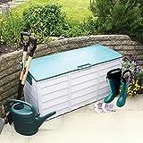 Outdoor Garden Garage Waterproof Plastic Storage Tool Shed Utility Chest Box