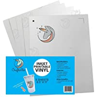 """Craftables Inkjet Printable Vinyl for Stickers. (5) 8.5""""x11"""" Sheets"""