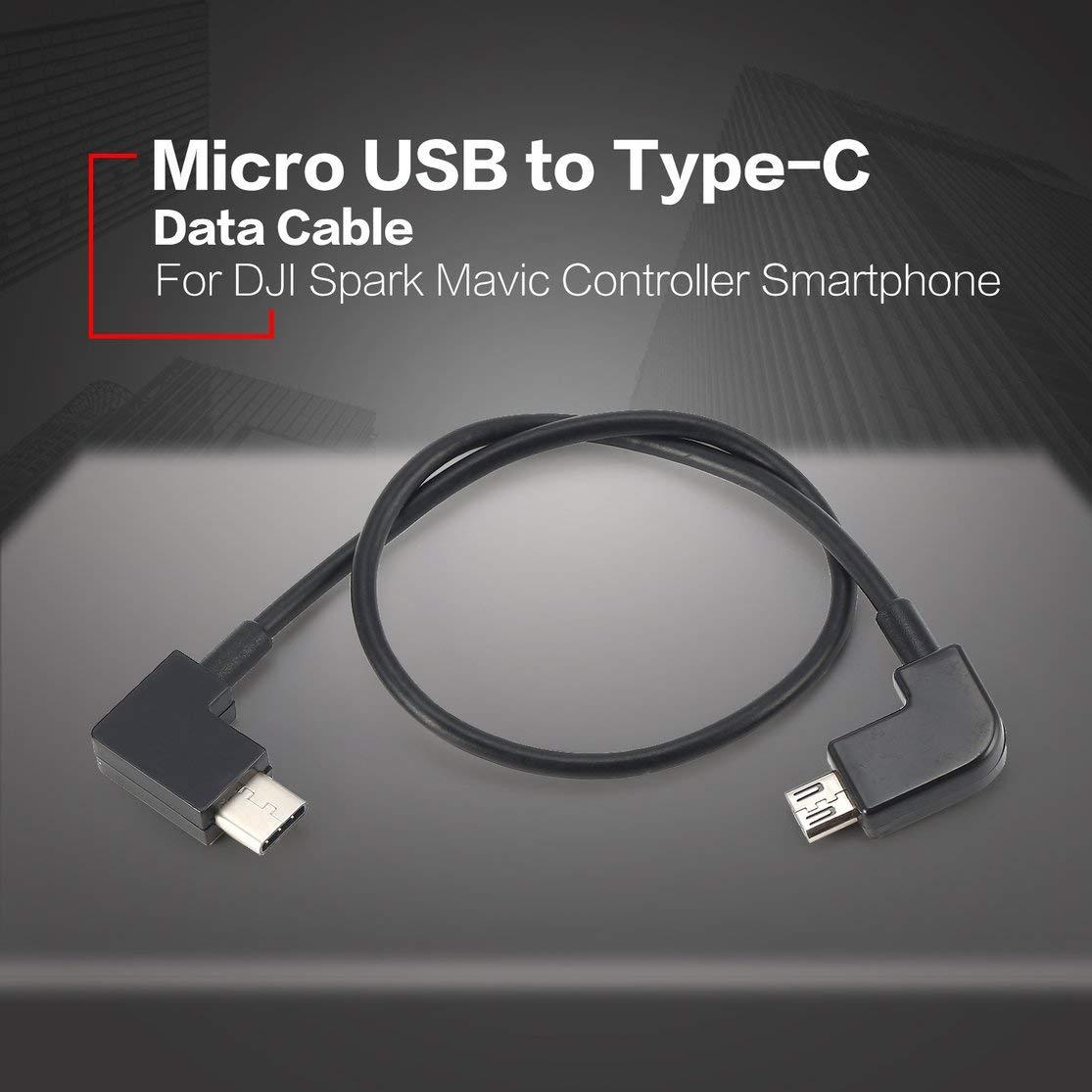 LouiseEvel215 Datenkabel f/ür DJI Spark Mavic Pro Platinum Luftregler Micro-USB auf Typ C Port Adapter Line f/ür Smartphone Tablet