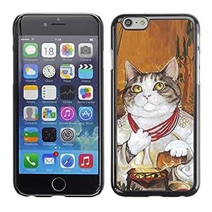 Be Good Phone Accessory // Dura Cáscara cubierta Protectora Caso Carcasa Funda de Protección para Apple Iphone 6 // Cat Pope God Vatican Shorthair Necklace