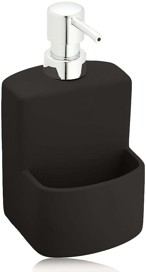 Wenko 3620117100, Dispensador de Detergente 0.38 L, Cerámica Soft-Touch, 10x10x18 cm