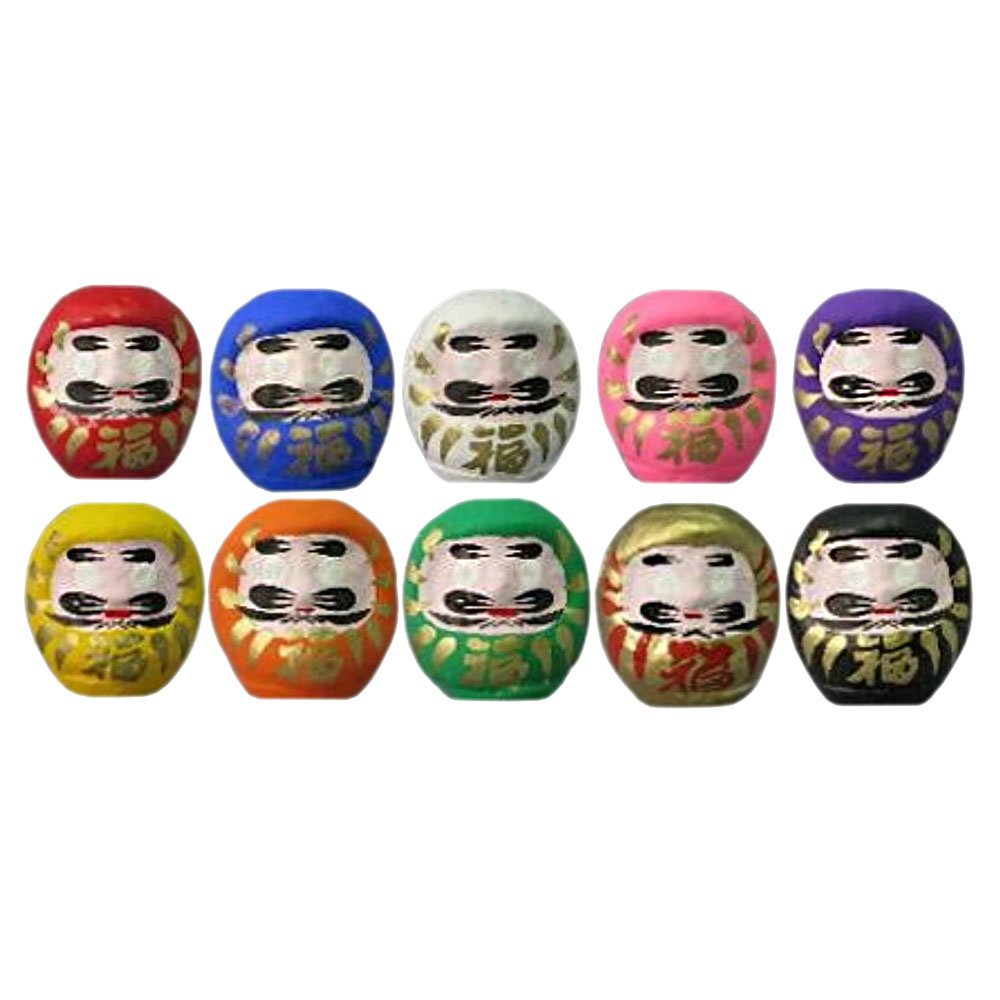 Daruma Fortune Dolls (4.7cm, Set of 10, Made in Japan) by Takasaki Daruma