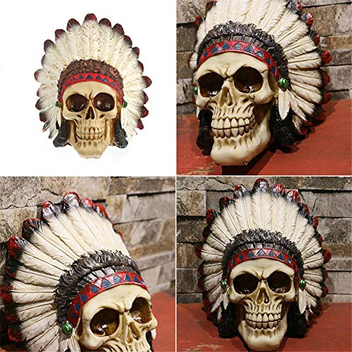 Pobooth Props - 2019 Fashion Bar Haunted House Decoration Scene Layout Props Indian Style Halloween Skull Shape - Indian Skull Indian Halloween Skull Cover Attract Tiger Cushion Halloween]()