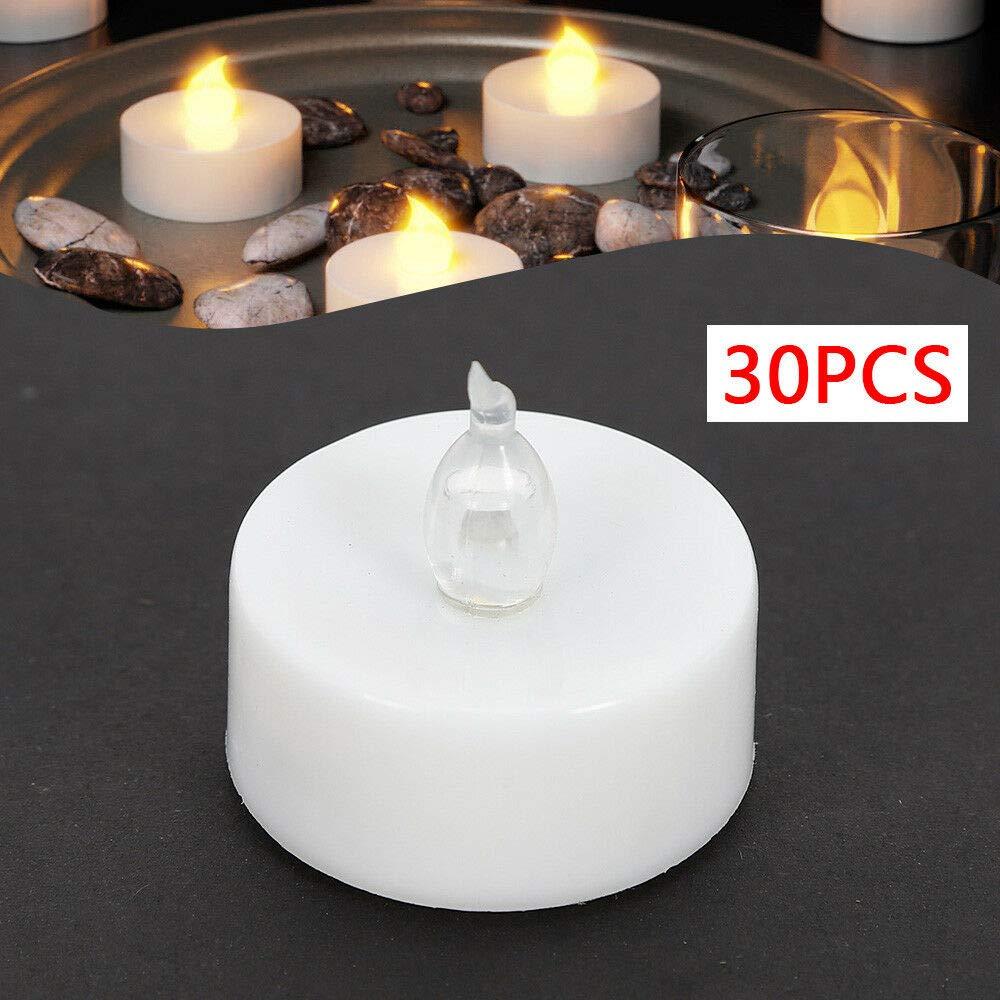 incl Bougies Chauffe-plat 30PC Bougies Chauffe-plat sans Flamme /à Piles et /à Scintillement avec T/él/écommande /à T/él/écommande