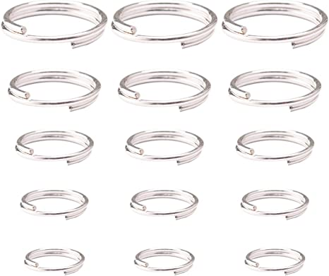 40 gr silver colour  Iron open Jump rings  Nickel Free Mixed Size 4~10mm