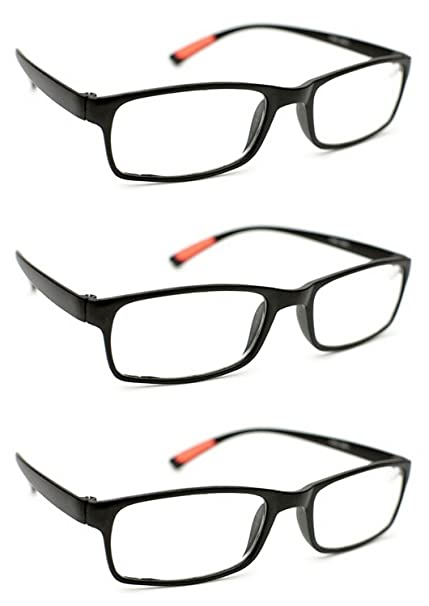 9209059e9c71 3 x Pairs Ultra-Lite Bendable TR90 Material Reading Glasses +1.0+1.5 +.  Roll over image to zoom in