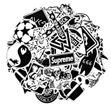 Sticker Pack [100-Pcs] Neuleben Graffiti Black White Sticker Decals Vinyls for Laptop,Kids,Cars,Motorcycle,Bicycle,Skateboard Luggage,Bumper Stickers Hippie Decals bomb Waterproof