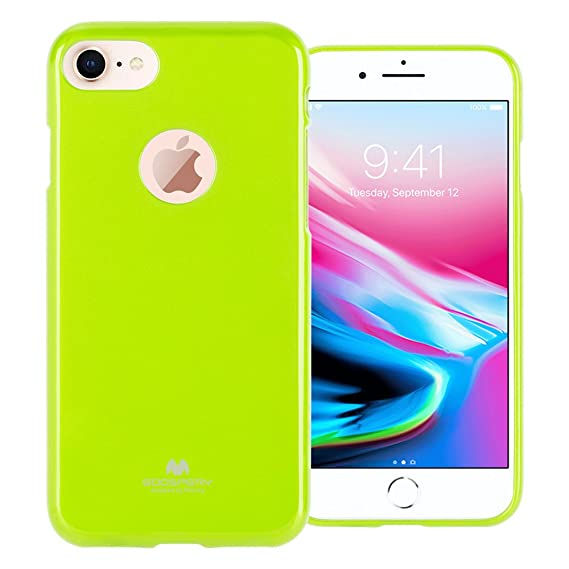 low priced 3ed04 97486 GOOSPERY Marlang Marlang iPhone 8 Case - Lime Green, Free Screen Protector  [Slim Fit] TPU Case [Flexible] Pearl Jelly [Protection] Bumper Cover for ...