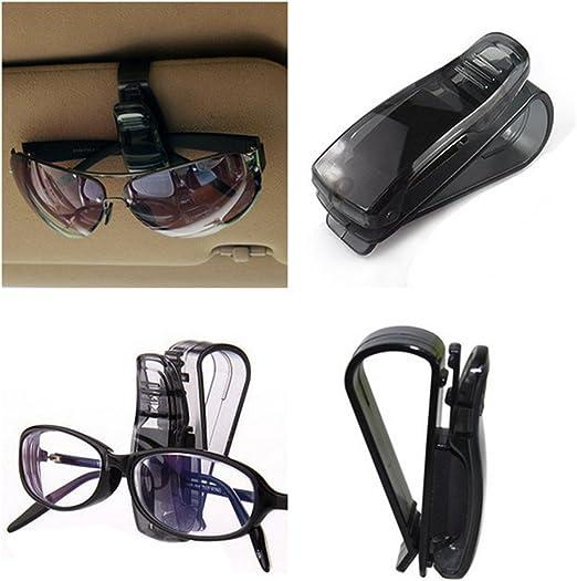 CathEU Soporte para Gafas de Coche Soporte para Gafas de Sol Fundas para Gafas de Coche Soporte para Gafas para Visera de Coche Black Soporte para Gafas 2pcs