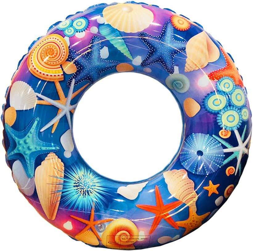 20 inch, Blue Sea ZaH Swim Rings for Kids Adults Pool Swimming Ring Inflatable Float Raft Water Swim Tube Summer Beach Party Decoration