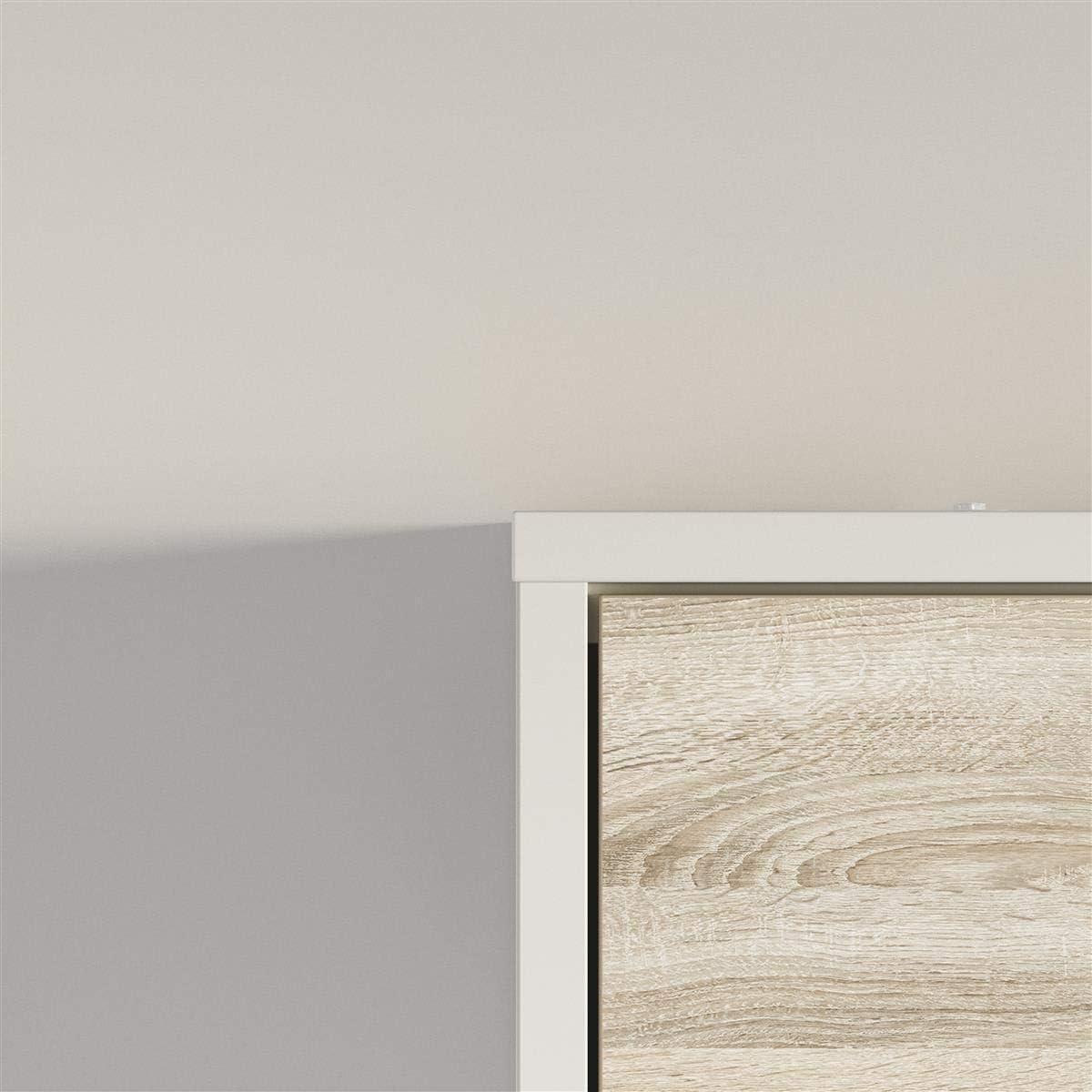 SMARTBett Armadio Letto Verticale 140 x 200 cm Ideale Come Letto degli Ospiti in Legno di Quercia Sonoma