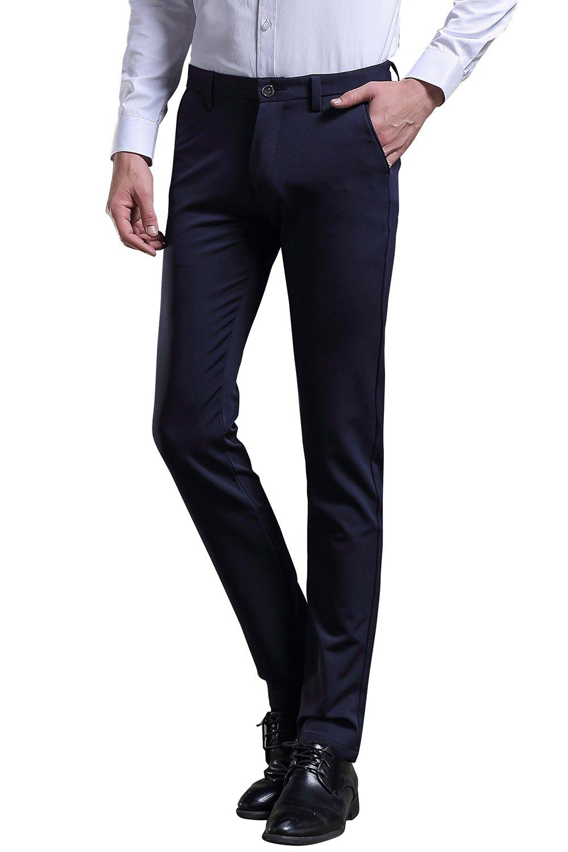 men suit pants slim tapered stretch pants wrinkle-free case me CA145Pants