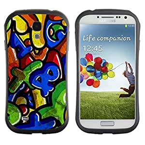 """Hypernova Slim Fit Dual Barniz Protector Caso Case Funda Para SAMSUNG Galaxy S4 IV / i9500 / i9515 / i9505G / SGH-i337 [Números Coloridos cartas para niños""""]"""