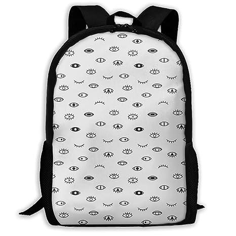 675fe97cc829 Amazon.com : TAOHJS106 Eyes Style 80-90s Pattern Waterproof Adult ...
