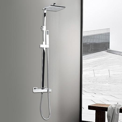 Columna de Ducha Ajustable con Sistema de Ducha termostático de ...