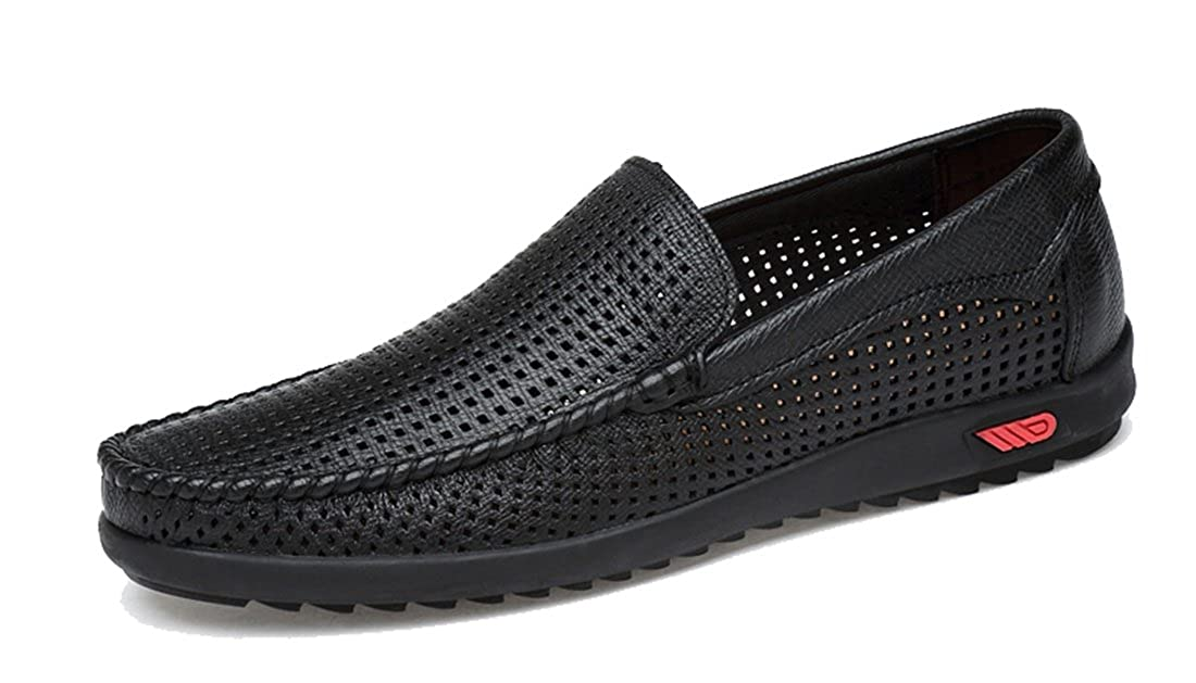 TDA Men's Casual Slip-On Breathable Leather Walking Hiking B075QF4C4J Penny Loafers Driving Shoes B075QF4C4J Hiking Western 0a0da8