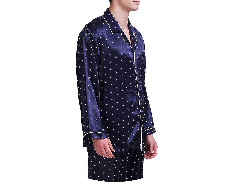 Mens Silk Satin Pajamas Set