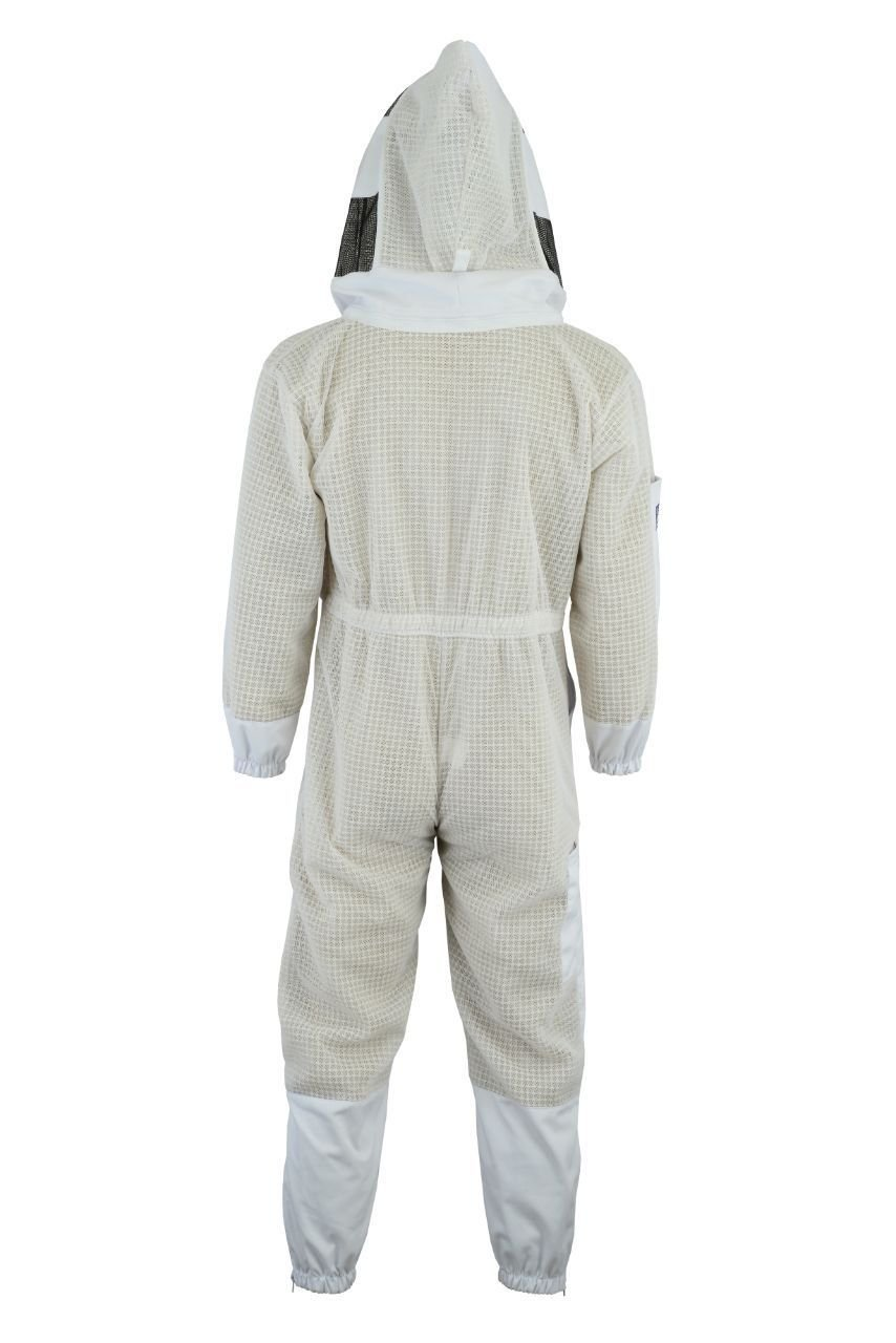 Bee Suit 3 Layer Ultra Ventilated Safety Protective Unisex White Fabric Mesh Beekeeping Jacket Beekeeper Outfit Fency Veil-XL by Bee Suit (Image #6)