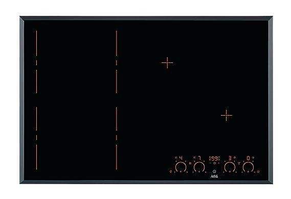 AEG - Vitrocerámica de inducción HKP 87420 FB acabado negro ...