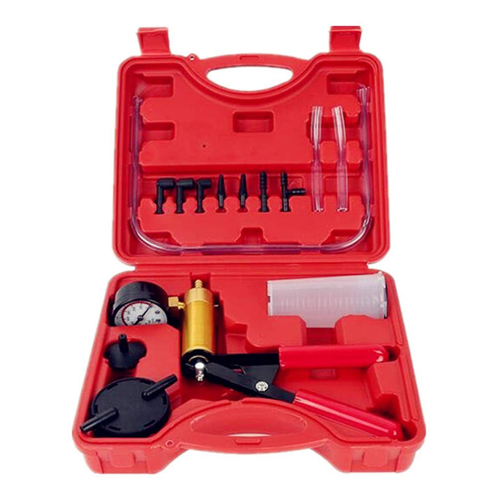 Scelet 2 in 1 Brake Bleeder Kit Hand held Vacuum Pump Test Set for Automotive,Adapters,One-Man Brake and Clutch Bleeding System