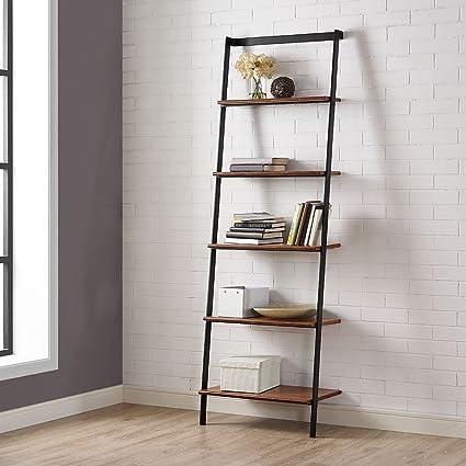 Amazon Com Studio Line Five Shelf Solid Bamboo Leaning