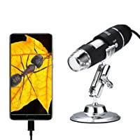 Oxbird50X-2000X, USB Microscope Children's Digital Microscope, Student Microscope, Android Phone (not iOS iPhone), Compatible with Mac Window 7/8/10/Mac10.13 and Higher.