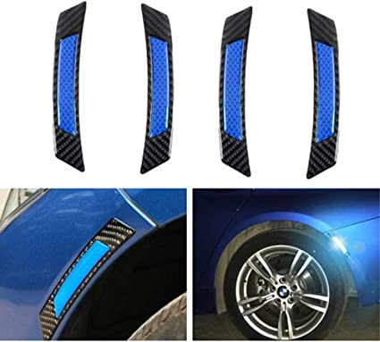 2 X Auto Car Door Edge Guard Reflective Sticker Tape Decal Safety Warning Blue