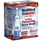 NeilMed Sinugator Cordless Pulsating Nasal Wash with 30 Premixed Packets (Pack of 3) , NeilMed-k5