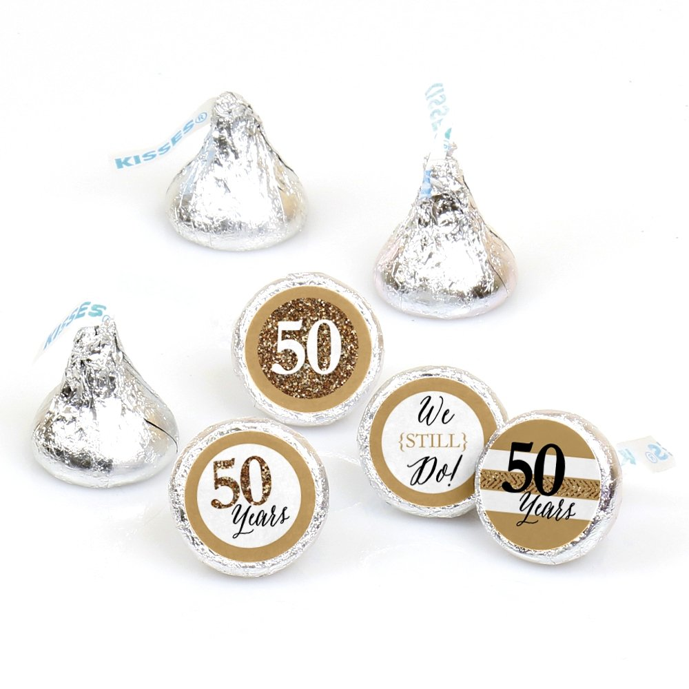 Amazon.com: 300 Personalized WEDDING ANNIVERSARY Themed CANDY ...
