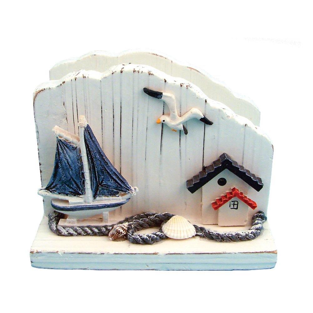 海�:#k�.&_最新作のナプキンホルダー木製ハンドメイド海の装飾