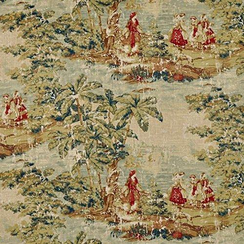 (Covington Bosporus Antique Red Fabric - by the Yard)