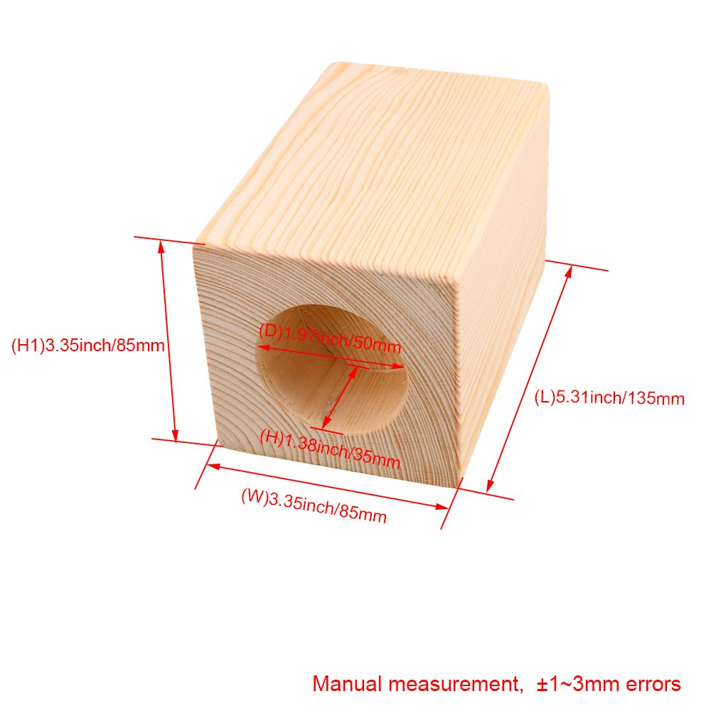Mxfans 4X Wood Furniture Storage Riser Bed Lifter 5cm Round Hole 4'' Lift Height by Mxfans (Image #4)