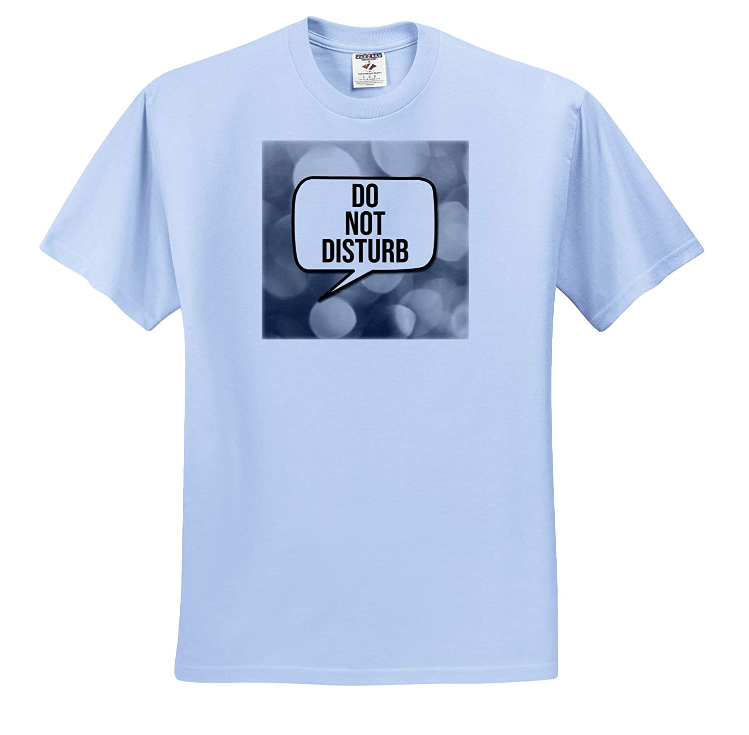 - T-Shirts 3dRose Stamp City Typography Do not Disturb on a Photograph of Black and White Bokeh Lights