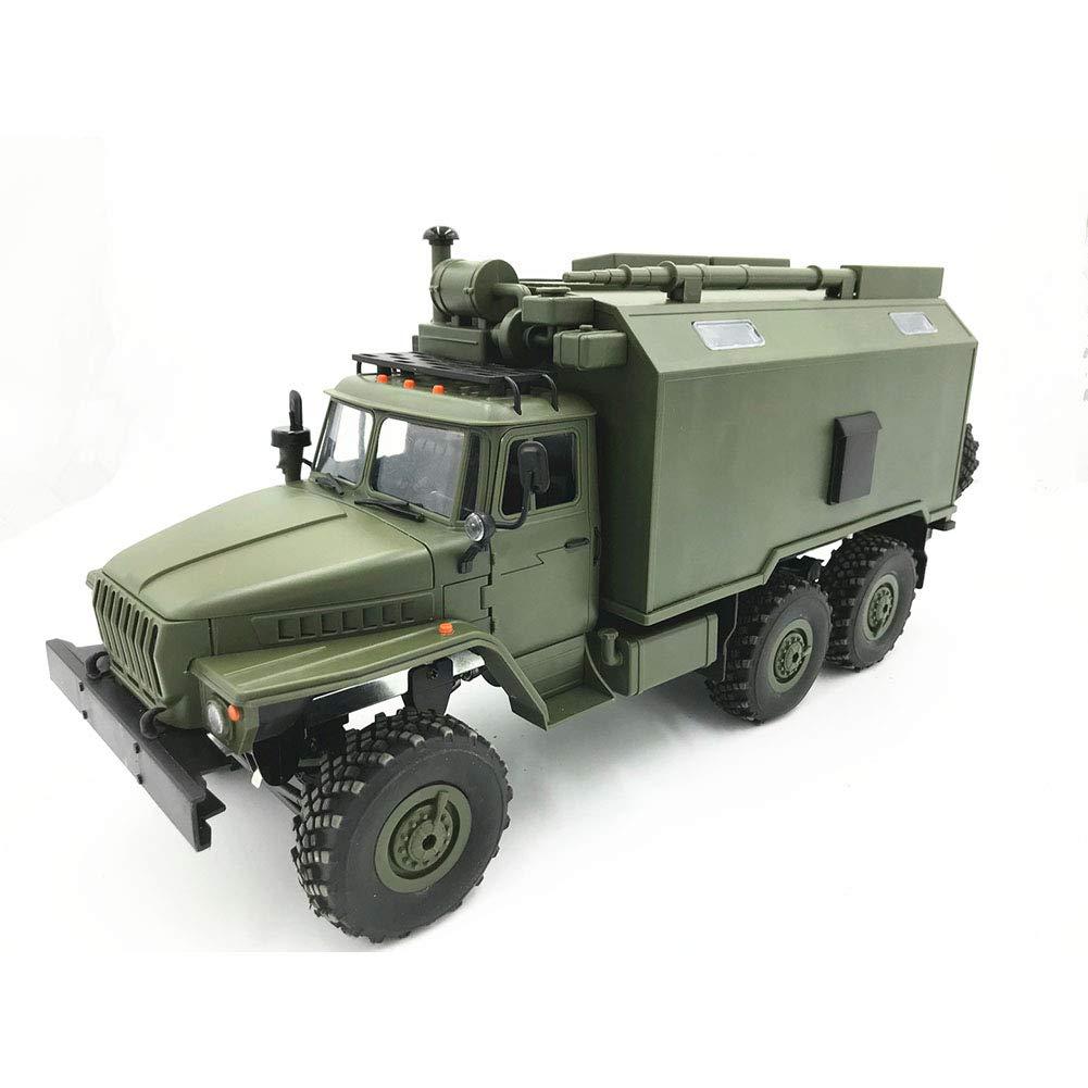 Etbotu Modellino Camion Telecomandato WPL B36 Ural 1 16 2.4G 6WD Rc Camion Militare, Giocattolo Educativo Creativo per Bambini - RTR