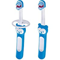 MAM Baby's Brush Set (2 Training Toothbrushes, 1 Safety Shield), Baby Toothbrushes with Brushy the Bear, Interactive App…