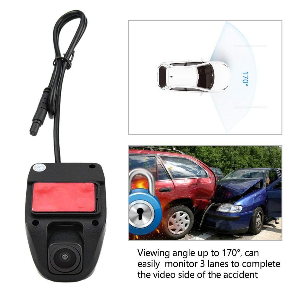 Duokon Dash Cam USB Full HD 1080 P Coche DVR Grabador de video Dash C/ámara de conducci/ón Grabadora 170 Gran Angular para Android